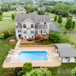 Purcellville Country House Aerial View